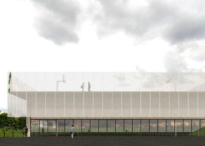 diseño de arquitectura para hacer la ampliacion del colegio 1307